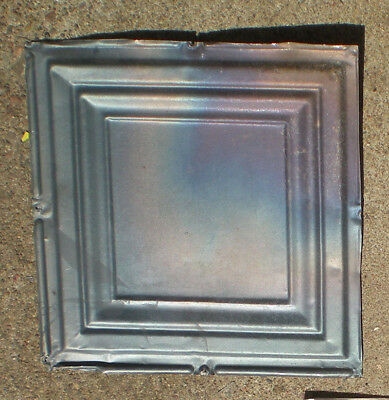 SALE Iridescent Antique Ceiling Tin Tile Simple and Elegant Framed Canvas Chic