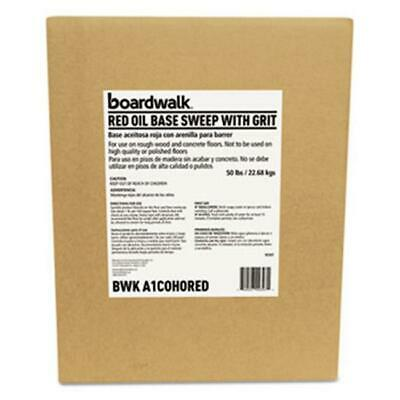 Boardwalk A1COHORED Oil-Based Sweeping Compound - Grit Red - 50lbs Box