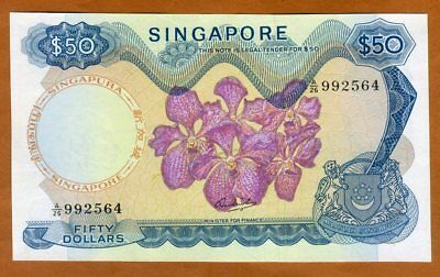 Singapore, 50 dollars, ND (1972), P-5 (5c), UNC > Orchids, First Issue