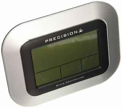 PREC0102 Case LCD Wall Mountable/Desk Clock, Silver