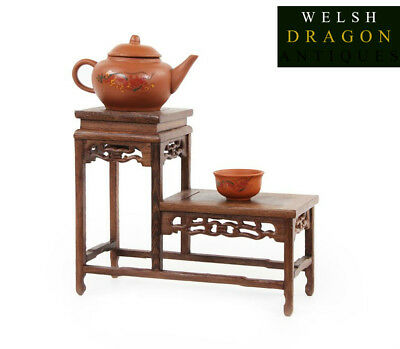 Quality Chinese Two Tier Traditional Style Wooden Display Stand Or Table Rare