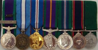 UK Modern Miniature Medal Group (7) Court Mounted on Bar
