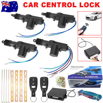 Car Remote Central Locking Kit 4 Door Lock Security Control System Entry Keyless