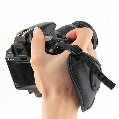 PU Leather Camera Hand Wrist Grip Strap For SLR DSLR Cameras RQ