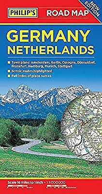 Philips Germany and Netherlands Road Map (Philips Road Map), Philips Maps, Used;