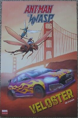 "ANT-MAN AND THE WASP HYUNDAI VELOSTER 2018 MARVEL MINI PROMO POSTER 11"" x 17"""