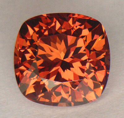 4.87Ct *certified* Precision Cut Rare Apricot To Pure Red Color Change Garnet