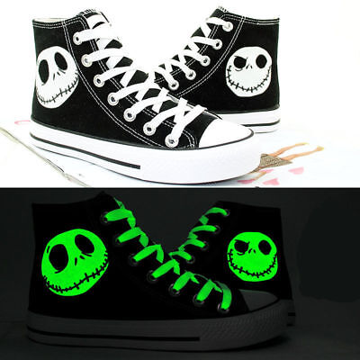 The Nightmare Before Christmas Jack Skellington Casual Canvas Shoes Cosplay HH