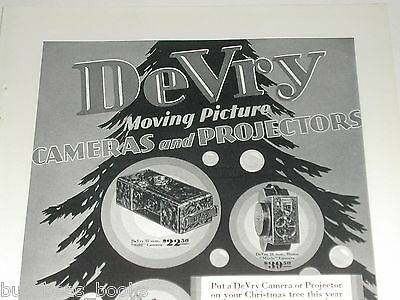 1929 DeVry Camera advertisement, DeVRY movie & still cameras, projectors