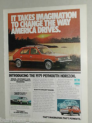 1979 Plymouth advertisement page for the Plymouth Horizon
