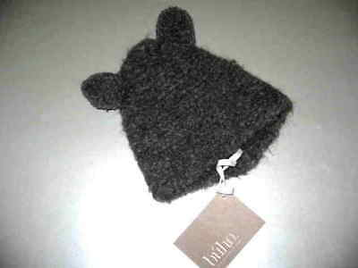 Nwt Buho Grey Knit Bunny Hat With Ears  Sz. S / Newborn
