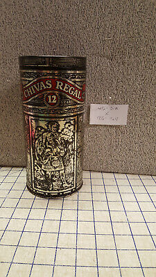 Chivas Regal 12 Year Scotch Whisky Tin Metal Box Empty Collectible Container