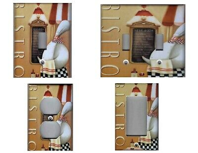 METAL LIGHT SWITCH Plate Cover Fat Chef Decor French Bistro ...