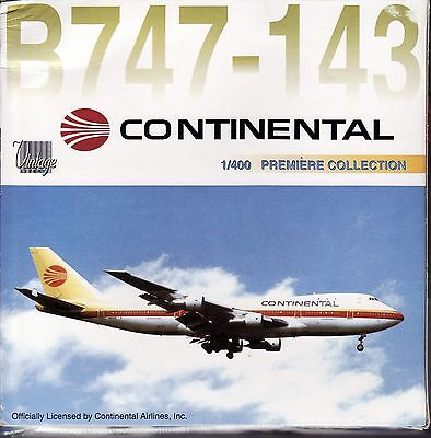 DRAGON WINGS CONTINENTAL AIRLINES B747-143 1:400 Diecast Plane Model 55136