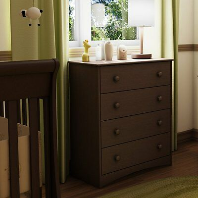 South Shore Angel Collection 4 Drawer Chest - Espresso