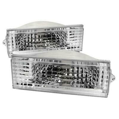 Spec D Tuning LB-CHKE84-RS 1984-1996 Jeep Cherokee Front Bumper Lights - Chrome