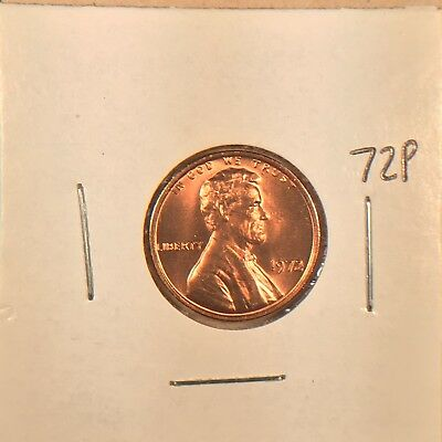 1972 P Lincoln Gem BU from OBW Roll
