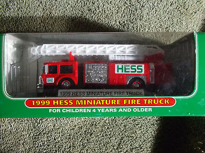 Collectible 1999 Hess Miniature Fire Truck