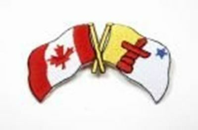 CANADIAN PROVINCE .. NEW ONTARIO ON SIDEKICK WORD PROVINCIAL FLAG IRON ON PATCH CREST BADGE ..
