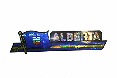 Canada Provincial Flag : Alberta LONG Metallic Bumper Sticker Decal .. Size : 30