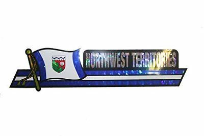 Canada Provincial Flag : NorthWest Territories LONG Metallic Bumper Sticker Deca