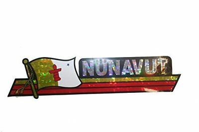 Canada Provincial Flag : Nunavut LONG Metallic Bumper Sticker Decal .. Size : 30