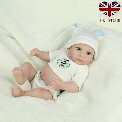 Full Body Vinyl Silicone Reborn Dolls Lifelike Newborn Boy Gift Mini Doll Toy