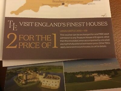 Treasure Houses Of England 2 For 1 Voucher