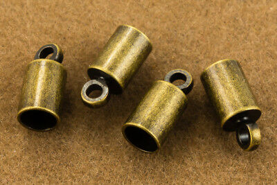 2mm Antique Brass Cord End Cap #MFE115