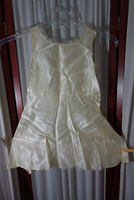 1940's Girl's Slip- Looks Like A Dress-S-Cream Satin/Lace/Net Ruffle-PRETTY-SALE