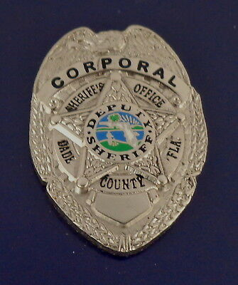 CORPORAL Dade County Florida Sheriff's Office police Mini Badge Lapel Pin SILVER