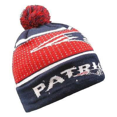 New England Patriots Big Logo Light Up Beanie Winter Hat Toque Cuffed Pom  Knit 746f2ccd1