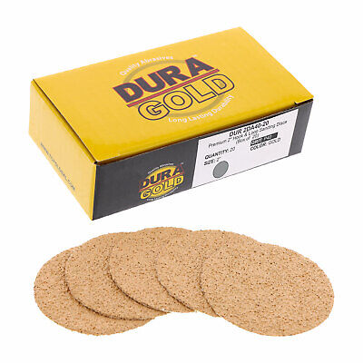 "40 Grit 2"" Gold Hook & Loop Sanding Discs DA Sanders - Box of 20 Sandpaper"