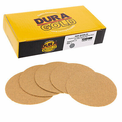 "80 Grit 3"" Gold Hook & Loop Sanding Discs DA Sanders - Box of 30 Sandpaper"