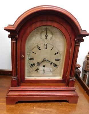 gustav becker mahogany cased bracket clock c1900s