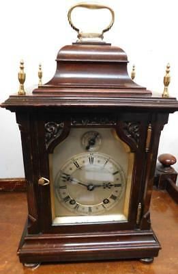 winterhalder & hoffmeir walnut cased 1/4 strike bracket clock