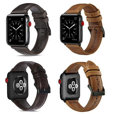 Genuine Leather Watch Band Strap Bracelet for Apple Watch iWatch Series 4/3/2/1
