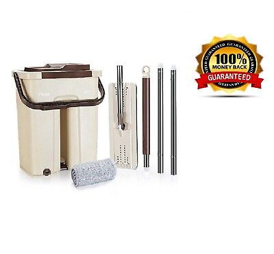 Mop Wash & Dry Flat & Bucket Cleaning System for all Floors FREE-POSTAGE