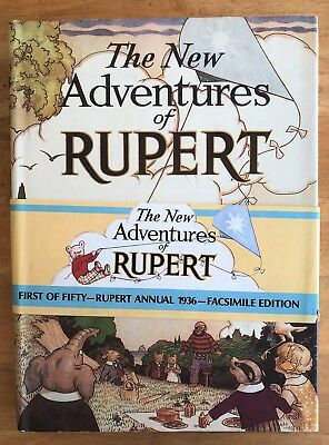 RUPERT BEAR FACSIMILE 1936 WITH PRICE BAND & D/W No 1101 LIMITED EDITION SUPERB!