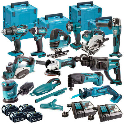 Makita 18V LXT Cordless 13pcs Monster Kit With 4 x 5.0AH BL1850, DC18RC & Case