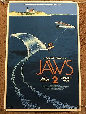 Jaws 2 Roy Scheider Laurent Durieux Art Print Horror Movie Poster Mondo Shark