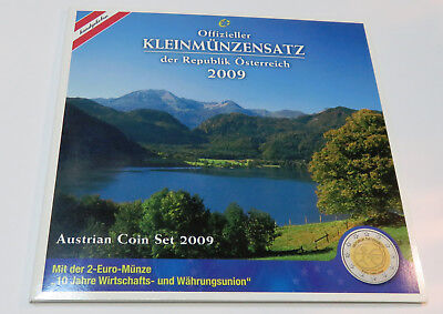 Kms Coinset Austria Österreich 1 Cent - 2 Euro 2009 Wwu Hgh Blister