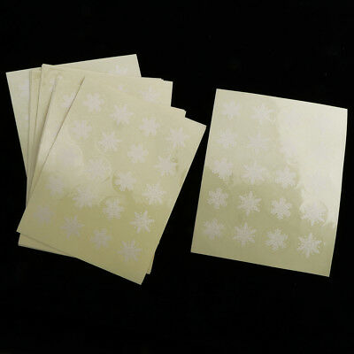 34mm Round Printed Snowflake Plastic Decorative Seal Labels Gift Wrap Stickers