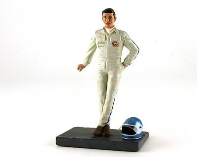 LeMans Miniatures 1:18 Jackie Ickx Figurine leaning w/ helmet and Gulf Suit