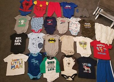 Large Lot Of Baby Boy Clothes Size 3 6 Months Koala Baby Under