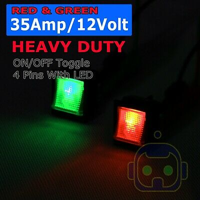 4X Toggle Switch Heavy Duty 30A 12V SPST 3 Terminal ON/OFF CAR BOAT ATV