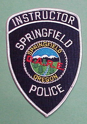 Springfield  Oregon  Or  D.a.r.e.   Police Patch   Free Shipping!!!