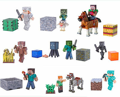"""MINECRAFT  action figures  3,5 """" - 8 cm   various Available Serie 1 & 2 Mojang"""