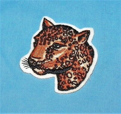 Vintage Embroidered Leopard Patch