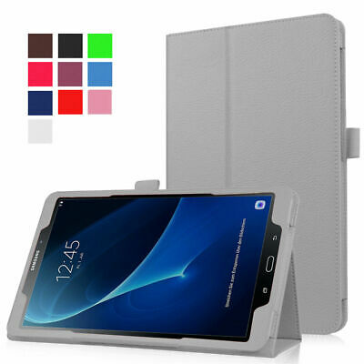 """Leather Tablet Stand Folio Case Cover For Samsung Galaxy Tab A6 10.1""""T 580/T585"""